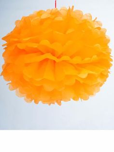 Wedding decor  pom pom orange paper - online in india