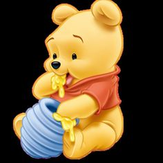 """Baby Winnie the Pooh Eating Honey. """"Winnie the Pooh and Friends"""" Winnie The Pooh Drawing, Cute Winnie The Pooh, Winne The Pooh, Cute Disney Wallpaper, Wallpaper Iphone Disney, Pooh Baby, Disneyland, Disney Mignon, Baby Disney Characters"""