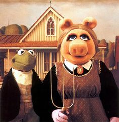 Muppetian Gothic | 36 Pop Cultural Reinventions Of The American Gothic Painting