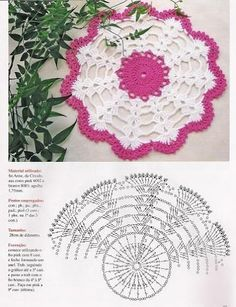 Home Decor Crochet Patterns Part 79 - Beautiful Crochet Patterns and Knitting Patterns Free Crochet Doily Patterns, Crochet Doily Diagram, Crochet Diy, Crochet Round, Crochet Home, Thread Crochet, Crochet Motif, Crochet Doilies, Crochet Flowers