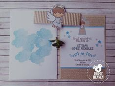 Baptism Invitations, Invitation Ideas, Angel Crafts, Baby Shower, 1st Boy Birthday, Projects To Try, Party, Shower Ideas, Diy Ideas