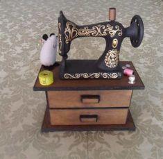 costureros de madera en forma de maquina de coser - Buscar con Google