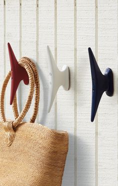 A cleverly repurposed dockside staple, our Boat Cleat Hooks were inspired by boating enthusiasts and designed to add nautically themed function to any space in your home.