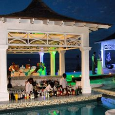 Couples Tower Isle swim-up bar on the island    http://couples.com/tower-isle/