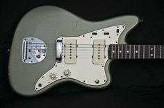 1965 Fender Jazzmaster firemist silver | via vintage one guitars