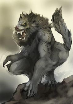 Khajiit werewolf by *Bittergeuse on deviantART