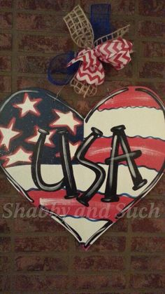 """CROSS Wood Patriotic USA Chevron Red White and Blue Door Wall Decor Wreath X-Large 28"""""""