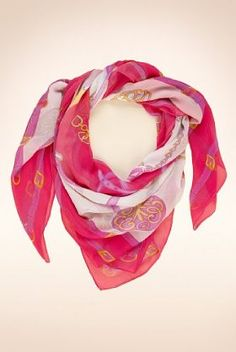 An easy lift to any outfit with this pink and white Limited Collection belt border square scarf.