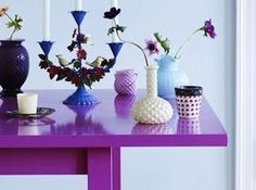 bright purple table, pantone ultra violet, bright purple, dark purple, violet