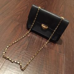 Forever 21 Chained Bag Navy Blue With Gold Hardware. Small - Mid Sized Bag (When It Comes to What Can Fit in the Inside). Previously Used. Slight Signs of Use on the Inside, 7/10 Condition. Purchased From Forever 21 a Year or Two Ago. Please allow 2-3 days for Shipping. **NO TRADES, PLEASE DO NOT ASK!** Forever 21 Accessories