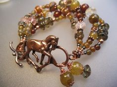 Dressage Horse Snaffle pendant Copper Dragon by ForgeHillSculpture, $84.00