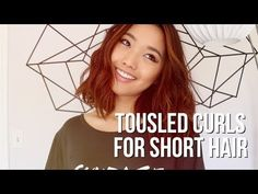 Whether you have really short hair, a bob, a lob, or something in between, we're sharing the best tutorials & products to teach you how to curl short hair! Short Hair Waves, How To Curl Short Hair, Short Wavy, Wavy Hair, Curls No Heat, Messy Curls, Soft Curls, One Length Haircuts, Jenn Im