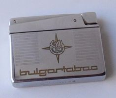 Vintage Collectible BULGARTABAC KAWEE Gasoline Metal Award Lighter Working Retro