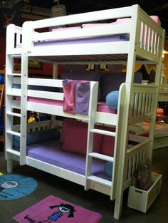 triple bunk bed + trundle, can sleep 7 if get full size