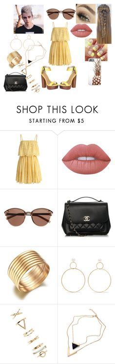 """First Date: Summer Lunch With Corbyn Besson"" by roxy-crushlings ❤ liked on Polyvore featuring Chicwish, Lime Crime, Witchery, Chanel, Natasha Schweitzer, Forever 21, CorbynBesson and whydontwe"