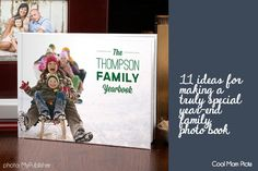 Great tip: Make a year-end family photo book now! That way you can include your holiday photos in it, too.