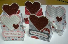 Valentine Treat One Sheet Boxes by mnfroggie - Cards and Paper Crafts at Splitcoaststampers