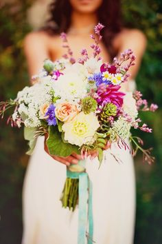 Wild wedding bouquet #HappyEverAfter