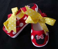 Minnie Mouse Shoes - Kids Clothing. via Etsy.