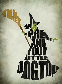 The Wizard of Oz Inspired Minimalist the Wicked Witch of the West Poster