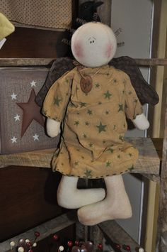 Primitive Love Angel Doll
