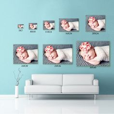 Print sizes in relation to a sofa - makes those 8x10's look puny!