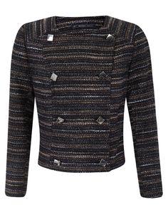 Producto: Chaqueta tweed doble botonadura {Blanco)
