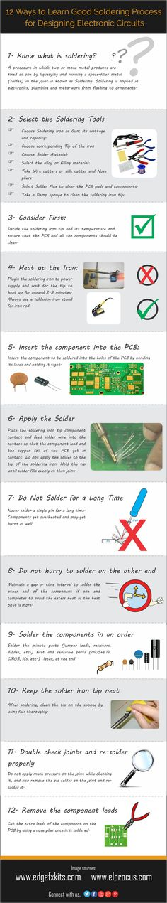 10 Ways to Learn Good #Soldering Process for Designing Electronic Circuits #MAKE