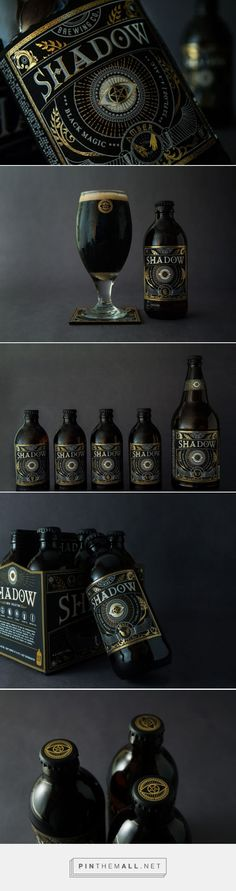 "Shadow is inspired by ""black magic"", which symbolizes the supernatural powers that cannot be seen with naked eyes. The eye logo is the portal to that spiritual essence. In the six pack of Shadow, each bottle has a different taste indicating a ""different personality"", and they are represented on the labels as witches hands, scale, sword, moon, sun and fire. The overall style is dark and mysterious."
