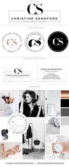 PREMIUM marca paquete cobre mármol minimalista insignia de