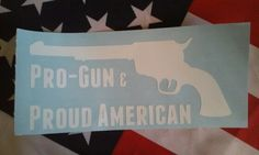 American Pro-Gun Decal from The Giddy Goat