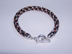 This is my first Kumihimo Bracelet, I got my kit from Spoilt Rotten Beads.