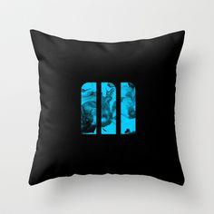 M Ink Throw Pillow by Matt Irving - $20.00