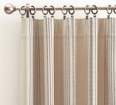 french ticking drapes