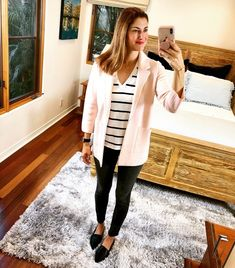 Happy Monday, friends!!! I love this look for work or playMy sweater-blazer is the perfect business casual Spring piece & these pointy toe loafers are the most versatile shoes I own for under $23My striped tank is a must-have for layering + it also comes as a short-sleeved tee ~ linking both styles for you Shopping my looks is easy... Tap the photo tags, or ⬆️Click the link in my bio, or Visit www.trend-fix.com/shop #ad #shopthelook