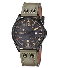 Shop for Stuhrling Original Men's Aviator Quartz Leather Strap Watch. Get free delivery On EVERYTHING* Overstock - Your Online Watches Store! Men's Watches, Fine Watches, Luxury Watches, Cool Watches, Watches For Men, Jewelry Watches, Analog Watches, Dress Watches, Men's Accessories