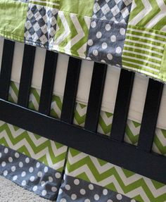 Custom Crib Bedding Lime green and grey by GiggleSixBaby on Etsy Baby Rooms, Twin Babies, Crib Bedding, Gender Neutral, Green And Grey, Fingers, Cribs, Kids Room, Lime