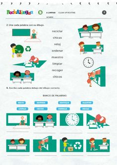 Clean up routine | Worksheet | Rockalingua