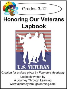 Veteran's Day Lapbook for Founders Academy Live Class - A Journey Through Learning |  | History LapbooksCurrClick