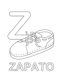 spanish alphabet coloring page z