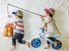 Chasing the weekend like........  Thanks for sharing @ayumiichi (share your pictures using #yvolution) . . . #kids #fishing #yvolution #fun #yvelo Yvolution   Balance Bike   Toddler   Kids  