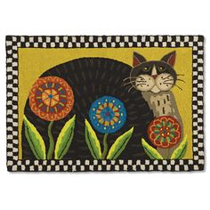 Image detail for -Cat & Penny Flowers Rug | Sturbridge Yankee Workshop
