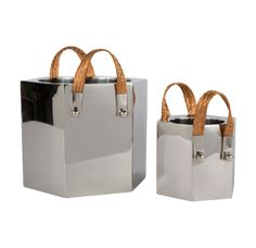 """One of our personal favorites! The Hex Wine Cooler 6""""H. #coolgifts #giftsforher #bar"""