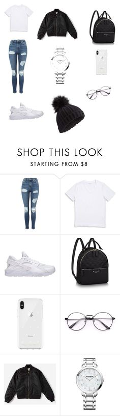 """""""Cuteness"""" by alliecute ❤ liked on Polyvore featuring Topshop, 1670 HBC, NIKE, Rebecca Minkoff, Everlane, Baume & Mercier and Miss Selfridge"""