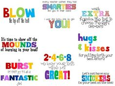 .Great way to encourage kids during finals!!