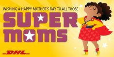 Happy MothersDay to all the SuperMoms out there! From all of us at DHL Express Malaysia. We hope your day is a beautiful one. Keep ROCKING! Keep Rocking, Super Mom, Beautiful One, Happy Mothers Day, Wish, Mother's Day