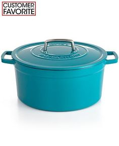 Martha Stewart Collection Collector's Enameled Cast Iron 8 Qt. Round Casserole - Cookware - Kitchen - Macy's