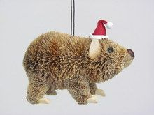 Aussie Christmas Hanging Wombat Ornament The wombat is a very Australian animal. This bristle brush hanging wombat ornament is a wonderful Australian touch to add to your tree f. Aussie Christmas, Australian Christmas, Rudolph Christmas, Christmas Store, Christmas Hat, Christmas Morning, Before Christmas, Christmas Lights, Christmas Decorations