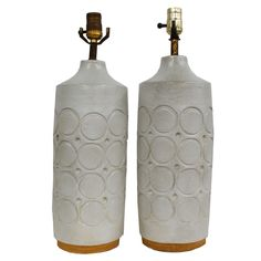 In love with these West German Pottery Lamps