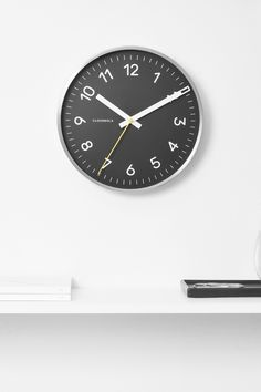 Now Clock in Black & Silver by Cloudnola | From Cloudnola.me